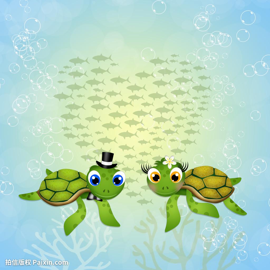 件,海洋,有趣的,心,插图,爱,海的,鱼类,明信片,海战国之怒游戏攻略图片