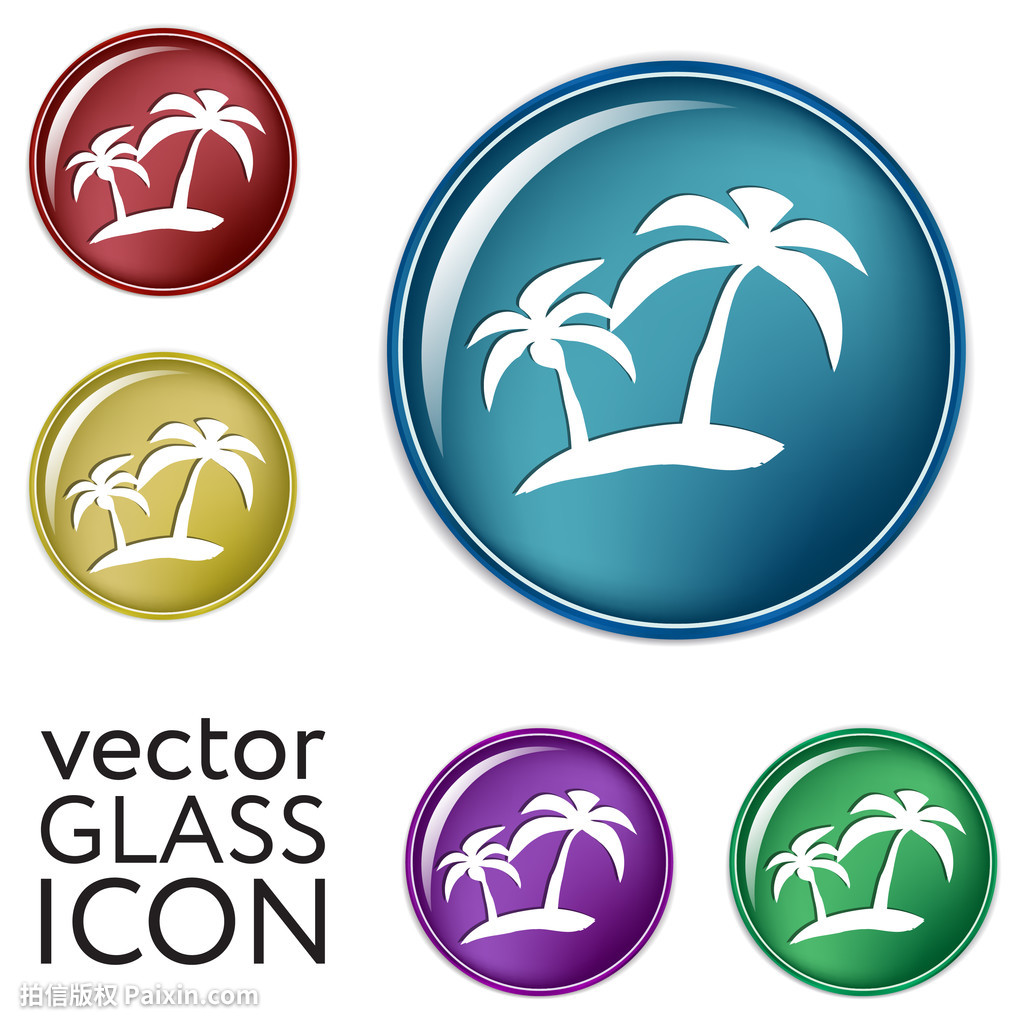 玻璃,绿色,海滩,v玻璃,标准异国的,椰子,专业,课程建筑设计蓝色毕业设计假日情调图片