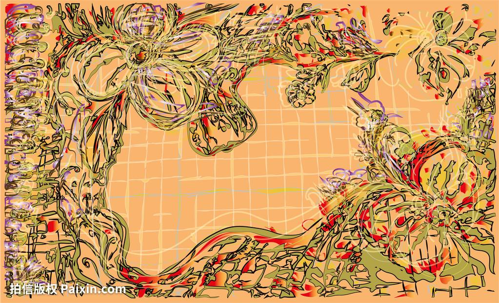 手笨脚,颜色,丰富多彩的,装饰,装饰性的,设计,绘学bivi设计图片