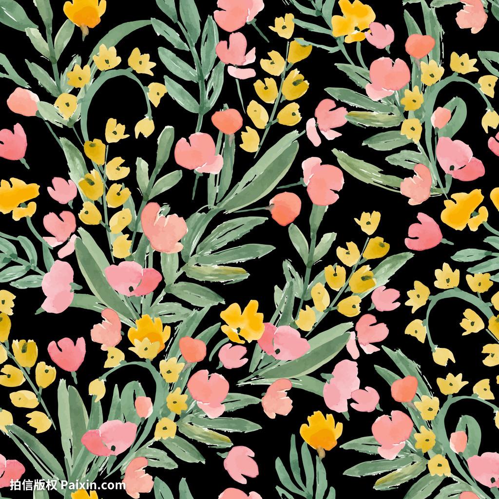 丽的,开花,开花,植物学的,毛茛,可爱的,v毛茛,绘制农夫山泉茶系列包装设计字体图片